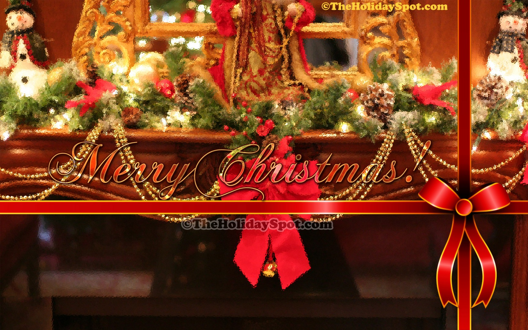 Christmas fireplace decoration 1920x1080 for Decoration none