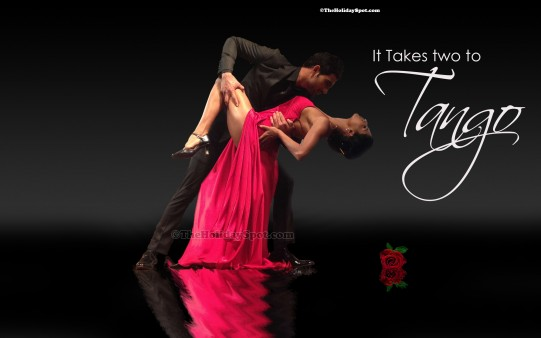 A Couple In A Romantic Dance Mood In Valentines Day Wallpaper.