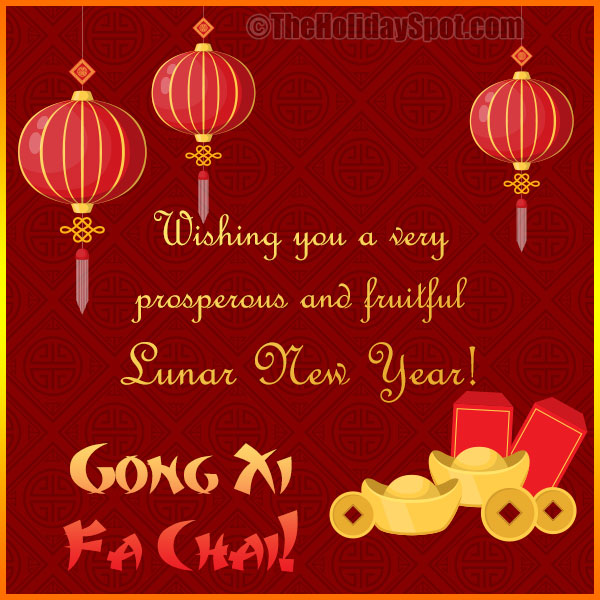 Chinese new year greeting cards wishing you a very prosperous and fruitful lunar new year decorative happy chinese new year greeting card m4hsunfo