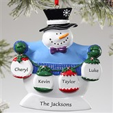 Frosty Family© Personalized Ornament- 4 Names