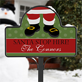 Santa Stop Here! Personalized Yard Stake