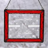 Winter Wonderland Monogram Personalized Suncatcher