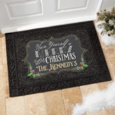 Merry Little Christmas Personalized Doormat
