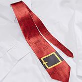 Santa's Belt Personalized Men's Tie