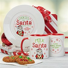 Cookies & Milk for Santa Personalized Collection