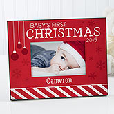 Baby's 1st Christmas Personalized Picture Frame