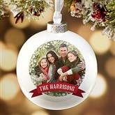 Classic Holiday Personalized Deluxe Globe Ornament