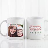 Christmas Photo Wishes Personalized Coffee Mug