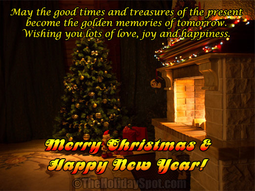 Christmas wishes with love, joy and happiness
