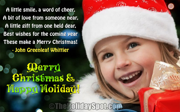 Christmas wishes greeting card for the joys of the holiday season