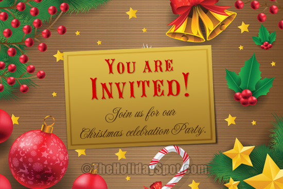 inviation card for christmas celebration party - Christmas Blessings For Cards