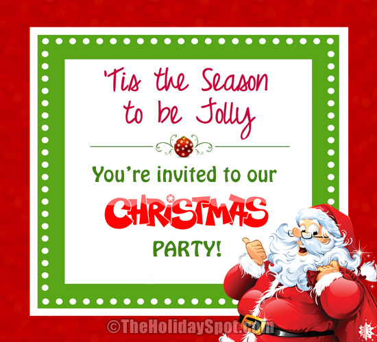 christmas party invitation card - Christmas Blessings For Cards