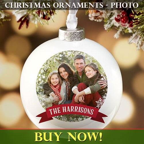 christmas ornaments with photo - Christmas Photo Ornaments