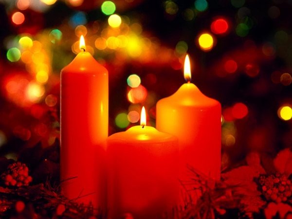 Christmas Symbol Candles