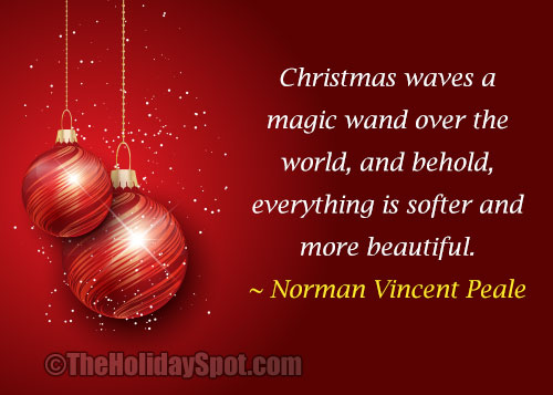 beautiful christmas quote by norman vincent peale - Beautiful Christmas Quotes