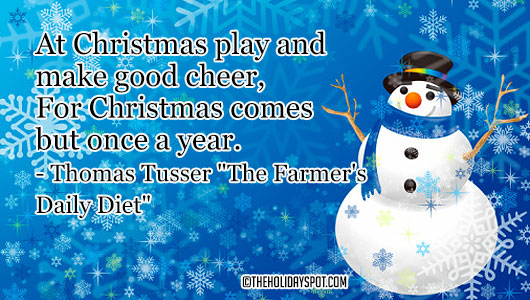 quotes cards christmas comes once a year - Christmas Quotes For Cards