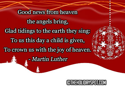 A quotation of Martin Luther