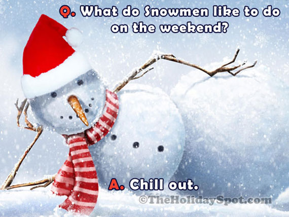 Christmas Snowman Joke card