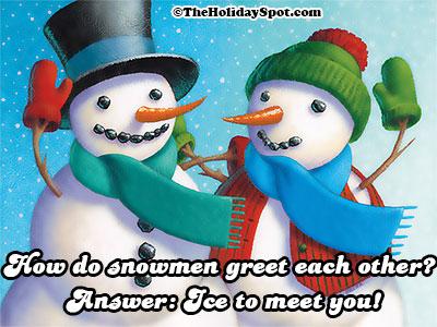 snowman greeting jokes christmas jokes - Dirty Christmas Puns