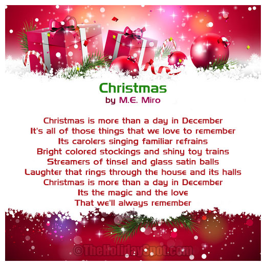 Christmas Poems | Short Christmas Poem | Poems about Christmas ...