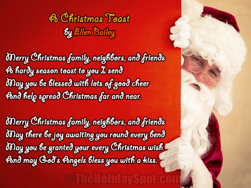 a christmas toest christmas poem