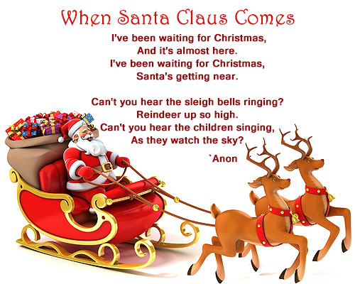 Christmas poems and poetries 6 when santa claus come christmas poem spiritdancerdesigns Images