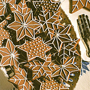 Christmas Recipes Chocolate Snowflake Stars