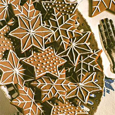 Chocolate Snowflake Stars