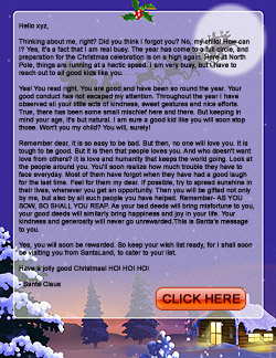 Personalized santa letters for christmas santa send christmas letter from decorated house spiritdancerdesigns Images