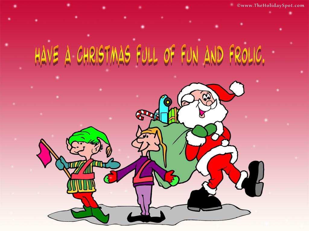 santa with christmas elves