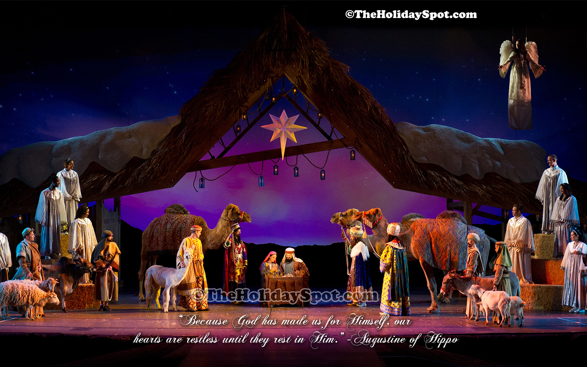 a beautiful christmas wallpaper depicting the birth of jesus - Christian Christmas Wallpaper
