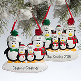 Penguin Family© Personalized Ornament