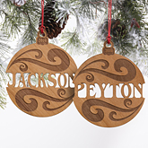 You Name It Personalized Wood Ornament