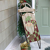 Vintage Santa Personalized Holiday Sled