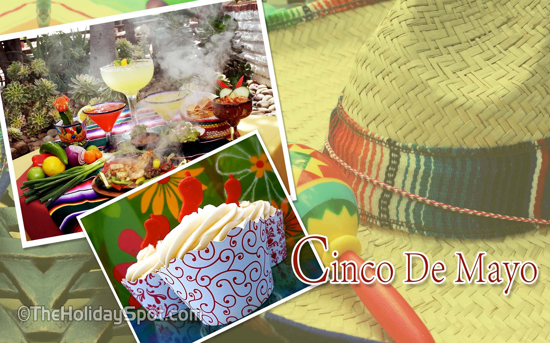 HD Wallpaper Portraying Mexican Feast And Dishes