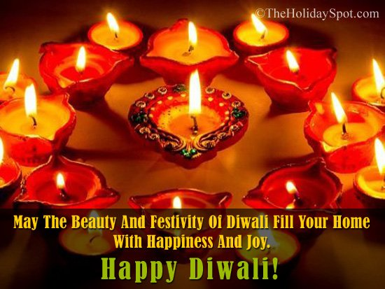 WhatsApp and Facebook image with Happy Diwali Wishes