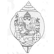 outline rangoli of lord ganesha