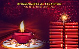Fire crackers and Diya wallpaper for Diwali