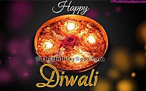 Diwali thali of Diyas