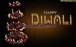 Diwali flames of diyas