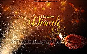 Colorful hd Diwali wallpaper with diya