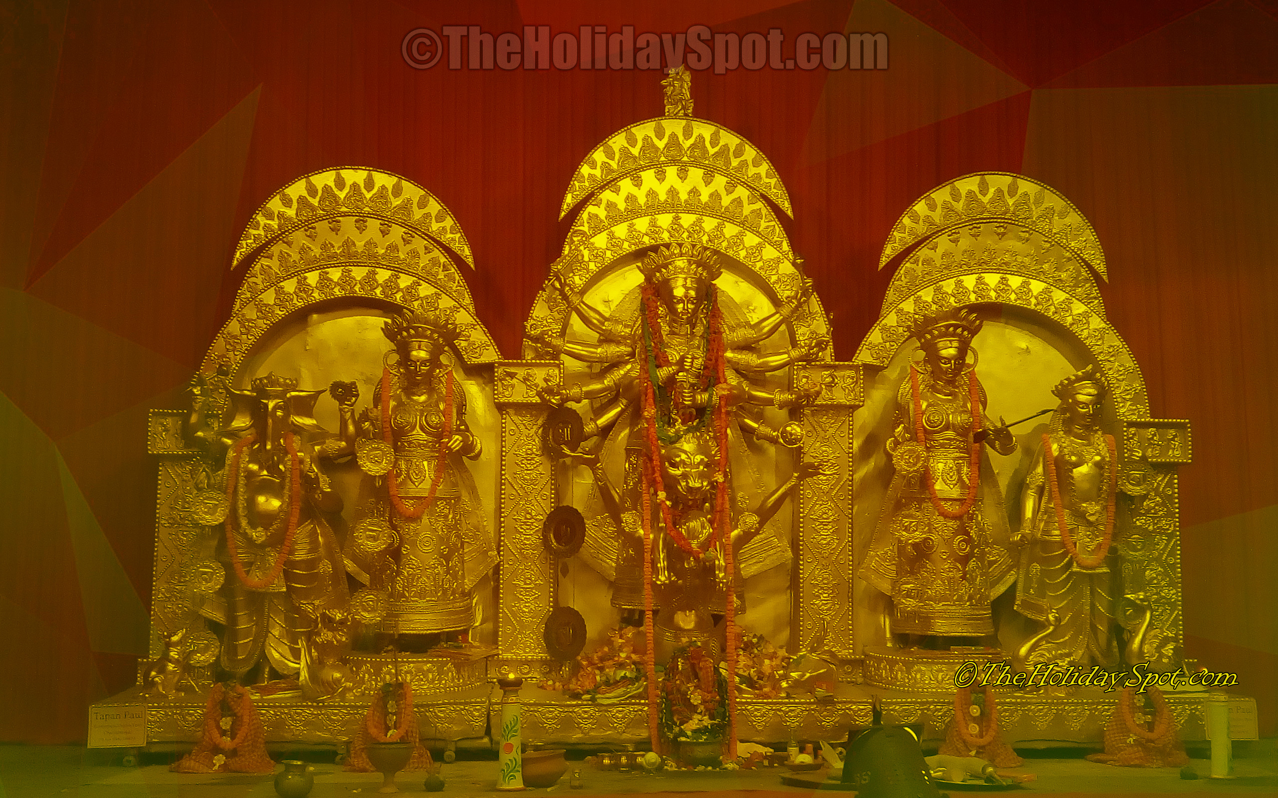 Durga puja wallpapers its free download now durga puja images wallpaper idol of maa durga and her family altavistaventures Choice Image