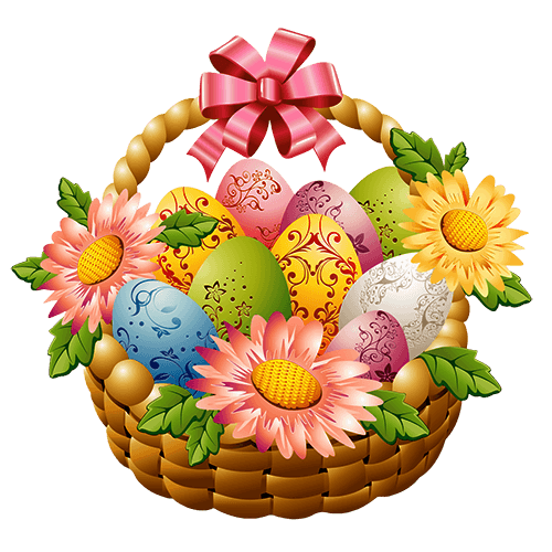 Happy Easter Wishes With Animated Eggs and Flowers