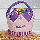 Princess Crown Personalized Plush Treat Bag