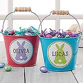 Easter Bunny Personalized Mini Treat Bucket