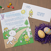 Personalized easter gifts easter baskets cloths bunny picture personalized letter from the easter bunny negle Images