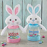 Personalized easter gifts easter baskets cloths bunny picture easter bunny personalized candy jar negle Image collections