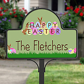 Happy Easter Personalized Yard Stake