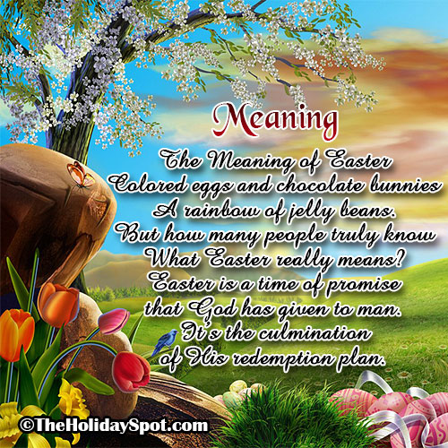 Poem Card - The meaning of Easter