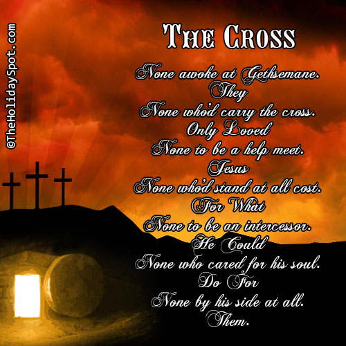 Easter poem card named The Cross